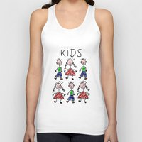 kids Tank Tops featuring Kids by Digital-Art