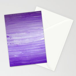 Purple Ombre Stripes Stationery Cards