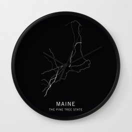 Maine State Road Map Wall Clock