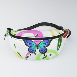 Butterfly,floral,colourful patter Fanny Pack