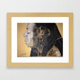 Man Behind the Mask Framed Art Print