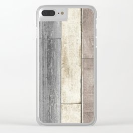 Floor Boards Clear iPhone Case