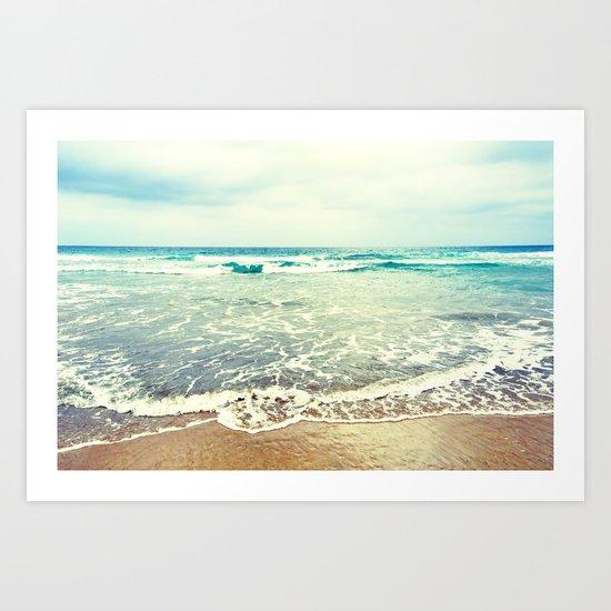 Oh, the sea, the sea... Art Print