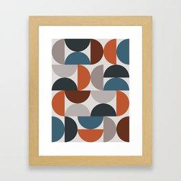 Mid Century Modern Geometric 25 Framed Art Print