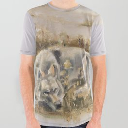 Totem wolf Sunset All Over Graphic Tee
