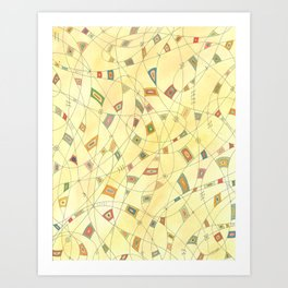 Interwoven Lives Art Print