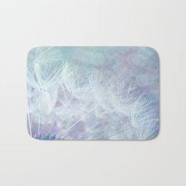 Whimsical Blue Dandelion Bath Mat