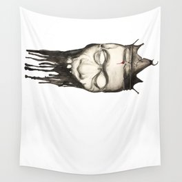 Rotten heads of kings with crowns. Wall Tapestry