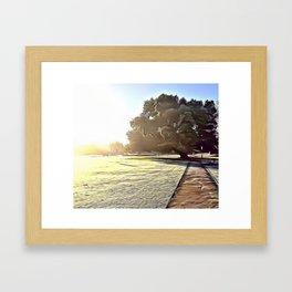 Low Morning Sun Airbrush Artwork Framed Art Print