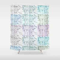 marty mcfly Shower Curtains featuring Marty by Kats Illustration