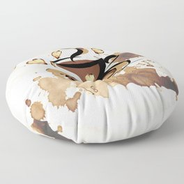 Coffee Is My Culture Floor Pillow
