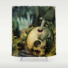 Trepanation (Skull) Shower Curtain