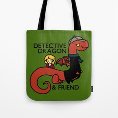 detective dragon & friend - sherlock hobbit parody Tote Bag