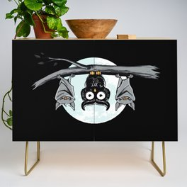 Cute Owl With Friends Credenza