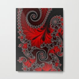 Eruption - Fractal Art Metal Print