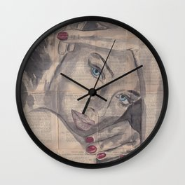 "Ink Painting ""Nelle"" Wall Clock"