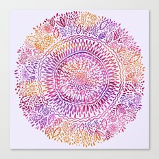 Intricate Sun Canvas Print