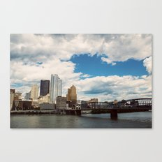 Hearts Over Pittsburgh Canvas Print