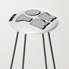 New York in writing Counter Stool