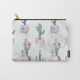 Cactus Rose Gold Marble Potted Cactuses and Succulents Carry-All Pouch