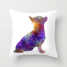 Chihuahua 01 in watercolor Throw Pillow