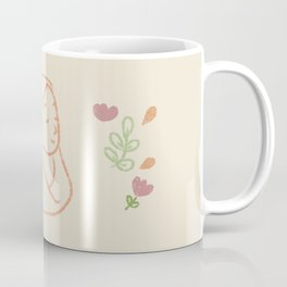Happy muslim woman - hand drawn Coffee Mug