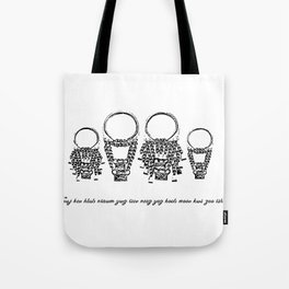 Family Hmong necklace Tote Bag