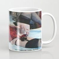 penis Mugs featuring funny painting Transgender trannie BDSM fetish panty corset sex fuck penis cock dick woman man cute by Velveteen Rodent