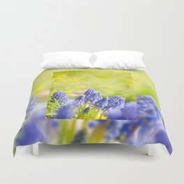 Blue Muscari Mill clump of grapes Duvet Cover