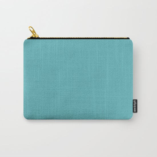 Simply Aqua- Mix and Match- A darker day at the Beach Carry-All Pouch