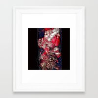 carnage Framed Art Prints featuring Carnage by Jeni Decker