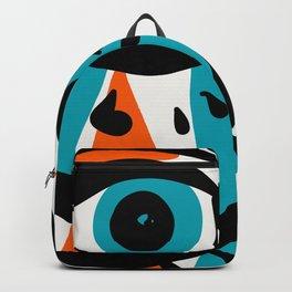 Blue Orange Cyclops Minimal Illustration Graffiti Art  Backpack
