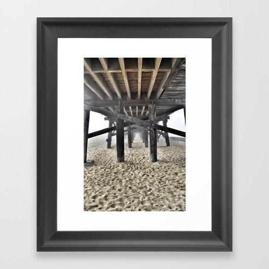 Under the Boardwalk Framed Art Print