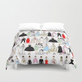 Outfits of Audrey Fashion (White) Duvet Cover