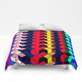 Spectrum Cubes / Pattern #7 Comforters