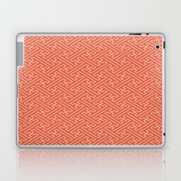 Orange Auspicious Sayagata Japanese Kimono Pattern Laptop & iPad Skin