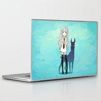 doberman Laptop & iPad Skins featuring Doberman by Freeminds