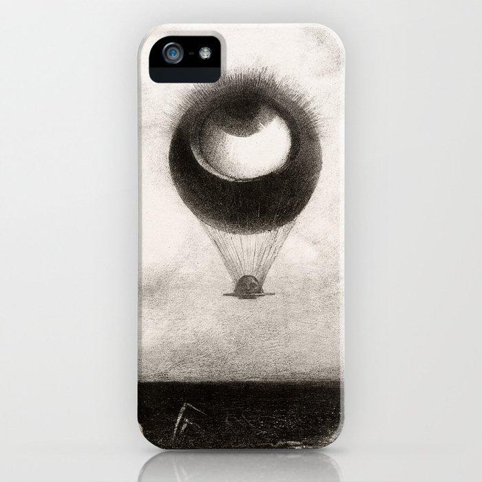 Olion Redon Eye Balloon Illustration iPhone Case