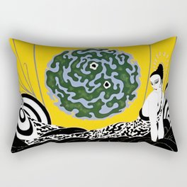 "Art Deco Design ""Selection of the Heart"" Rectangular Pillow"