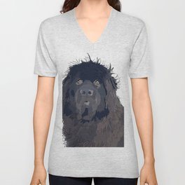Newfoundland Dog (black) Unisex V-Neck