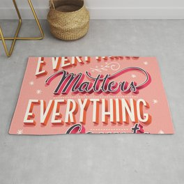 Everything matters, everything counts, hand lettering typography modern poster design Rug