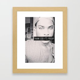 FRANC FRIDAY - TGIF Framed Art Print