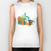 canada Biker Tanks featuring Canada by Mohit Gupta