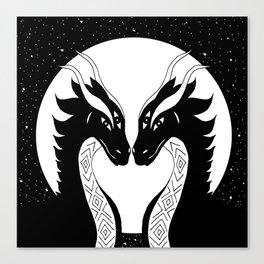 All eyes on you - dragon twins Canvas Print