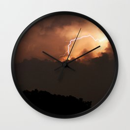 Thai Lightning Storm Wall Clock