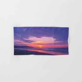 Broken sunset by #Bizzartino Hand & Bath Towel