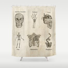 Anatomy lessons Shower Curtain