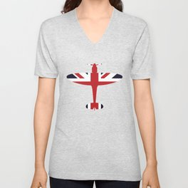 Union Jack Faded Flag Queen Unisex V-Neck