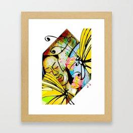Cabsink16DesignerPatternWBF Framed Art Print