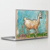 poop Laptop & iPad Skins featuring What Llamas Poop  by Taylor Winder